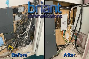 before & after, cable installation, rewiring, satellite, aerial, TV, television, expert, professional, skilled engineer